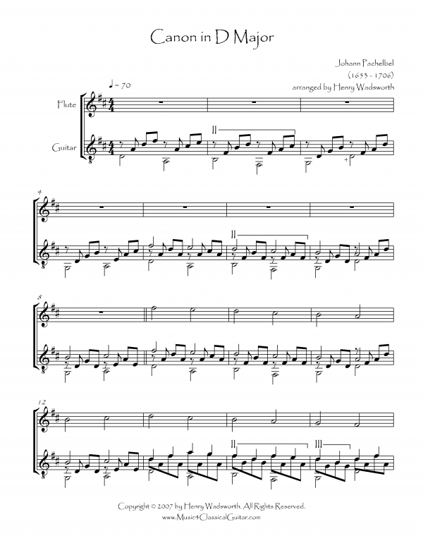 Notes: Sheet Music Canon In D Guitar At Alzheimers-prions.com